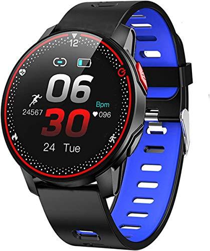 CBCJU Nuevo rastreador deportivo Smartwatch de fitness, seguimiento de sueño de frecuencia cardíaca para hombres y mujeres con 9 modos de ejercicio, IP68 impermeable Smartwatch-D