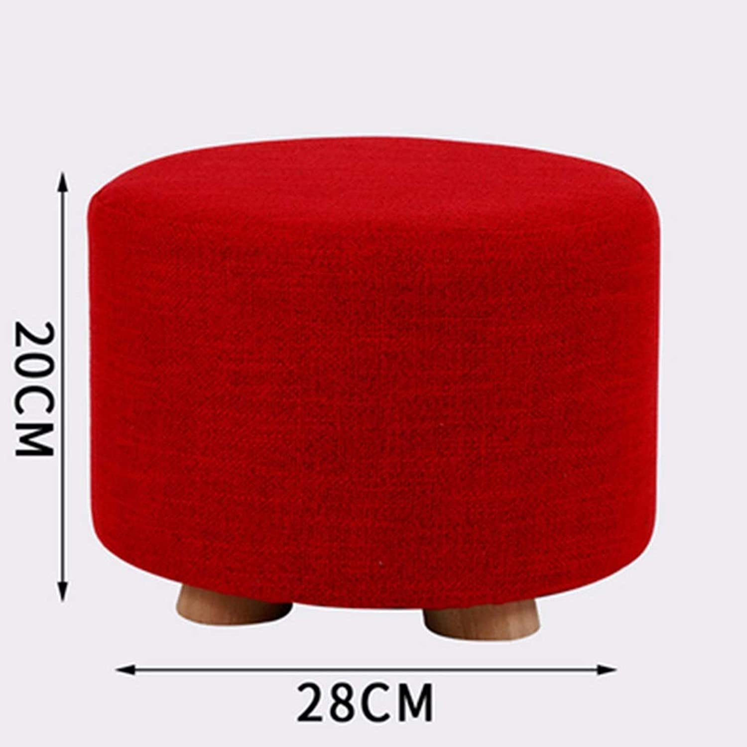 DQMSB Solid Wood Stool Home Change shoes Stool Stool Fashion Creative Living Room Small Bench Sofa Stool Bedroom Fabric Stool (color   D)