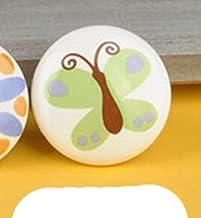 Kinderen Slaapkamer Lade Computer Bureau Boekenkast Handvat Keramische Kleur Groene Knop Zonder Formaldehyde-Vlinder