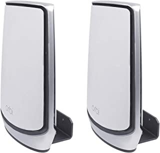 Koroao Wall Mount Holder for Orbi Whole Home Tri-Band Mesh WiFi 6 System, Wall Bracket Hanger Stand with Holder Compatible...