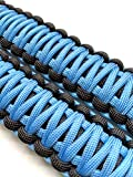 Paracord Headrest Grab Handles for Wranglers and Other Vehicles, Set of 2 (Light Blue)
