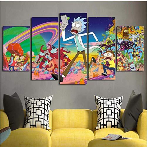 Lllyzz Afbeelding op canvas, Hd Prints, wand, modulair, foto, 5-delig, tekening, kunst, canvas, modern, voor woonkamer, huisdecoratie, prints op canvas, 150 x 80 cm
