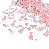 JZK 4 Confezioni coriandoli Rosa Battesimo Bambina Decorazione Tavolo Compleanno Nascita Battesimo Comunione Baby Shower Festa Bimba neonata