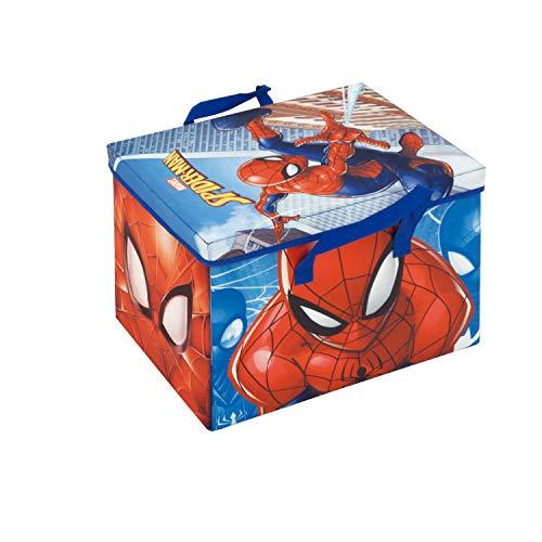 ARDITEX SM12108 Caja - Contenedor Textil (41x31x28cm) Convertible en Tapiz de Juegos (84x95cm) de Marvel-Spiderman
