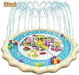 """[Fate un tuffo nella grande Cool Pool] ottenere sollievo dal caldo e porta felicità senza fine con la piscina gonfiabile 59"""" acqua Splashpad per i vostri bambini o bambini in estate. Custodire i momenti come i vostri kiddos spruzzata sotto le rinfres..."""