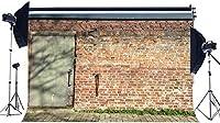 HD古い納屋の背景10x7ftビニールフロント木製納屋のドアの背景田舎の農地ノスタルジアレンガの壁紙個人的な肖像画の西カウボーイ写真の背景写真スタジオの小道具154