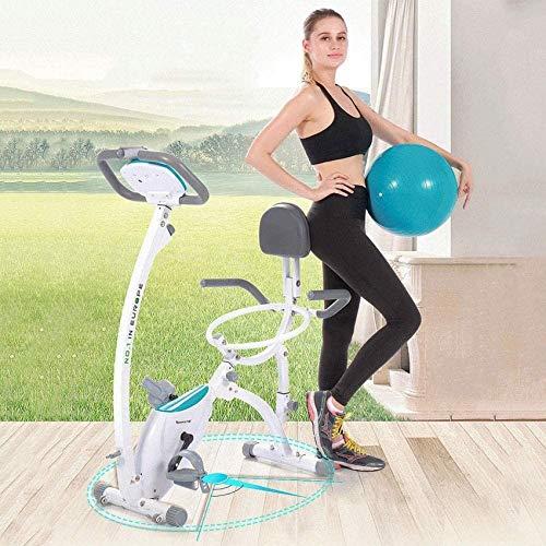 LIANGANAN Bicicleta de ejercicio vertical de 2020 para interior de yoga, para el hogar, estudio estacionario con pelota de yoga y monitor LCD, entrenamiento aeróbico, bicicleta cardiovascular zhuang94