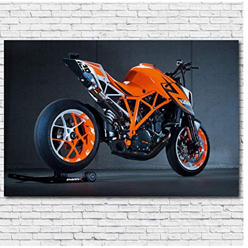 WTHKL Motocicleta Super Duke KTM 1290 Arte de la Pared Póster de Arte en HD Pintura en Lienzo Decoración de la Pared del hogar Impresión en Lienzo -24x32 Pulgadas Sin Marco 1 PCS