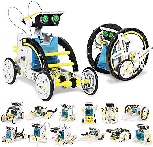 Bluebell Toys for 8-10 Year Old Boys and Girls, 13-in-1 Education Solar Robot Toys Solar Powered by The Sun DIY Building Science Experiment Kit for Kids, Gifts for 8-12 Year Old Boys and Girls (Multi)