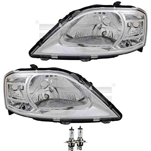 Scheinwerfer Set rechts & links H4 für Logan MCV KS_ LS_ inkl. OSRAM Lampen ohne Steuergerät (Kabeleinsteller)