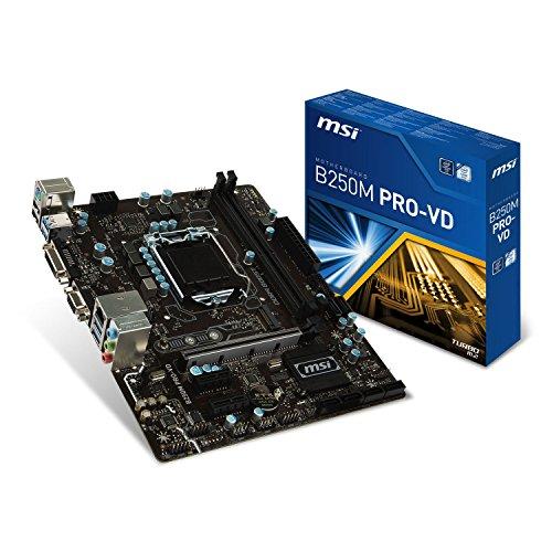 MSI B250M Pro-VD LGA 1151 DDR4 DVI,D-Sub 1x M.2 & 6x USB 3.1 Gen1 MATX Mainboard
