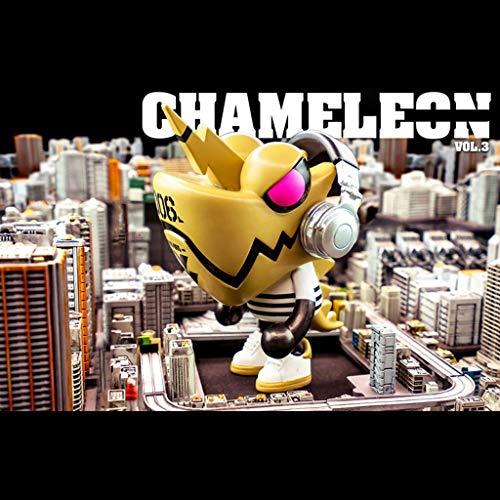 LRWTY Einhorn-Chamäleon (gelb) VOL.3 Auto-Dekoration PVC-Action-Figur Spielzeug/Haus-Auto-Dekor/Sammlung Figuren Geschenke for Dekoration 3.9