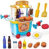 NextX Kinderküche Zubehör Küchenspielzeug,Lebensmittel Burger Kaufladen Pädagogisches Rollenspiele Geschenk für 2+ Jahre altes Jungen Mädchen