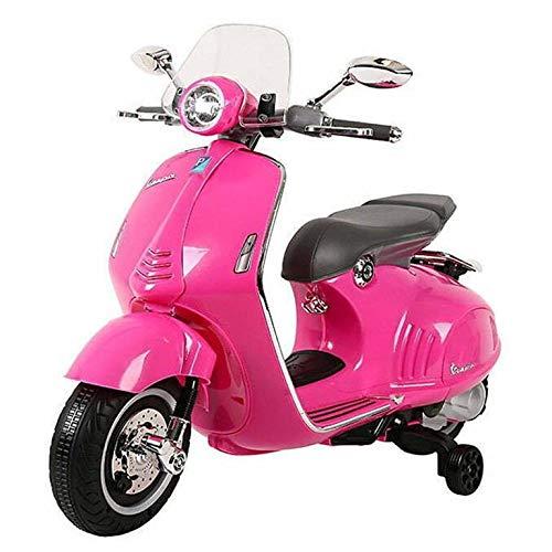 Colibri Moto Giocattolo per Bambini 2 Anni 3 Anni 4 Anni cavalcabile elettrica Bambini Vespa elettrica per Bambini Rosa