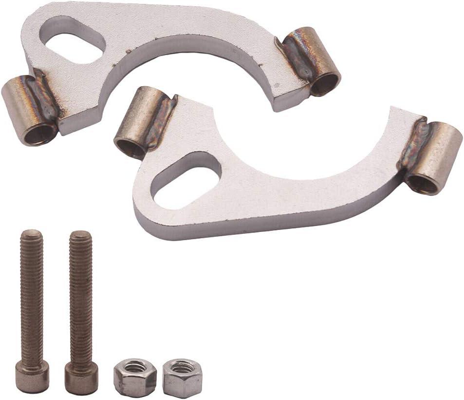 Gazechimp Max 62% OFF Exhaust Fashionable Flange 2.5inch Oval Flat Repair Split