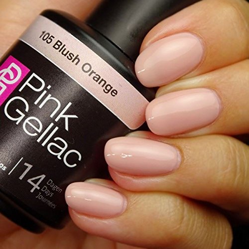Pink Gellac 105 Blush Orange Rosa Shellac UV / LED Gel Nagellack 15ml Nail Polish Uncovered 1 Kollektion