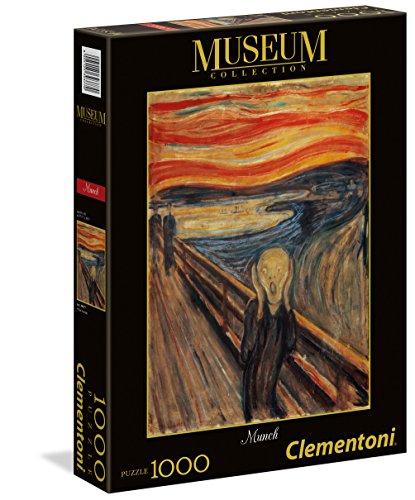 Clementoni 39377-Puzzle L'Urlo Di Pingüinos De Madagascar Puzzle Museum Munch 1000 pzas, Multicolor (39377)