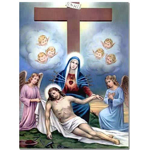 AJleil Puzzle 1000 Piezas Regalos Hechos a Mano por el Nacimiento de Jesucristo Puzzle 1000 Piezas educa Rompecabezas de Juguete de descompresión intelectual50x75cm(20x30inch)