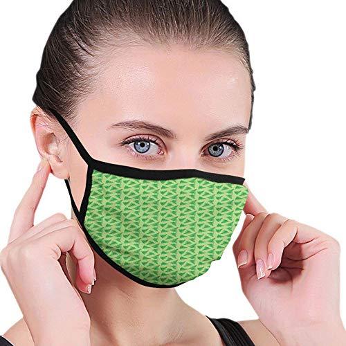 Bequeme Winddichte Maske, Tropische Blätter Illustration im grünen Schatten exotisches Dschungel-Pflanzen-Muster