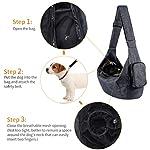 Petacc Dog Carrier Sling Bag Hand Free Pet Puppy Cat Travel Shoulder Carry Bag with Adjustable Strap and Safety Hook for Outdoor Walking Subway (Black) 11