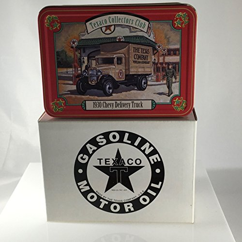 ERTL / Texaco Collectors Club 1930 Texaco Chevy Delivery Truck 1:43 Die-Cast In Collector Tin