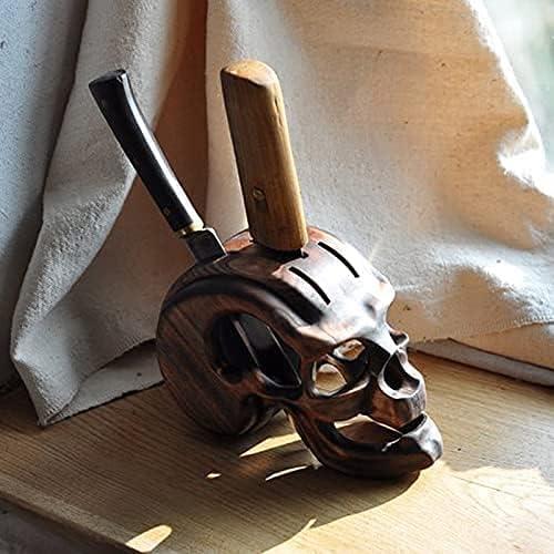 Bloques De Cuchillos De Calavera, Soporte De Cuchillos, Cuchillo De Madera, Soporte De Esqueleto, Soporte De Almacenamiento De Cuchillos, Adorno De Calavera De Resina De Halloween (B)