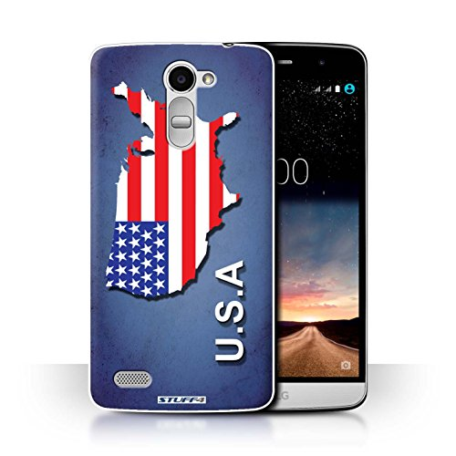 Hülle Für LG Ray/X190 Flagge Land Amerika/Amerikaner/USA Design Transparent Ultra Dünn Klar Hart Schutz Handyhülle Case