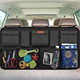 Car Trunk Organizer, Auto Hanging Back Seat Storage, Car Backseat Trunk Storage Organizer for Truck, SUV, Van