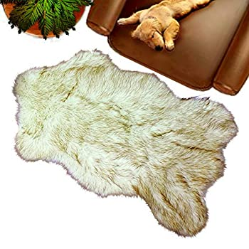 Faux animal rug
