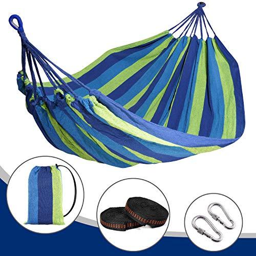 arteesol Reise Camping Hängematte Ultraleichte 300kg Tragkraft, (280 x 150 cm) Atmungsaktiv, Schnelltrocknendes Für Draußen Drinnen Garten (Blue)