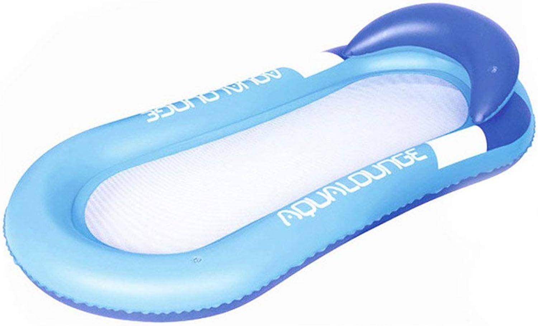 Ahorre 60% de descuento y envío rápido a todo el mundo. ACOMG ACOMG ACOMG Cama Flotante de Agua Inflable, Silla para Adultos, Juguetes para la Piscina, Balsas inflables, Silla Flotante para Piscina, con Almohada,azul  respuestas rápidas