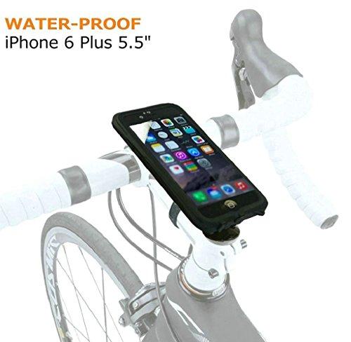 Eximtrade Fahrrad Handy Halterung Wasserdicht für Apple iPhone 6 Plus (Schwarz)