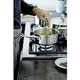 WMF Gourmet Plus Topfset Induktion 6-teilig, Kochtopf Set mit Metalldeckel, Cromargan Edelstahl mattiert, Töpfe Set unbeschichtet, Innenskalierung - 17