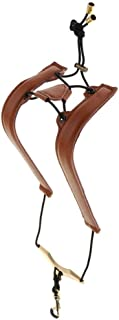 TOOGOO Brown Adjustable Leather Saxophone Shoulder Neck Strap with Buckle Width 24Mm for Sax Players Music Lovers