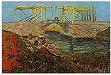LGHLJ Posters para Pared El Puente de Langlois en Arles de Vincent Van Gogh Lienzo póster Pared Arte...