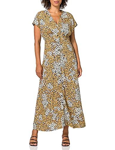 Only ONLMOLLIE Capsleeve Calf Dress WVN Vestido, Black/AOP: Ditsy, XS para Mujer