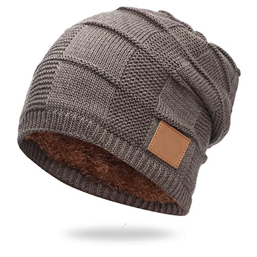 Liaiqing Men's & Women's Autumn & Winter Windproof & Warm Fashion Hedging & Down Hood Riding Ski Outdoor Sports Cap Comfortable Ear Protection Knitted Hat Outdoor Hat (Color : E)