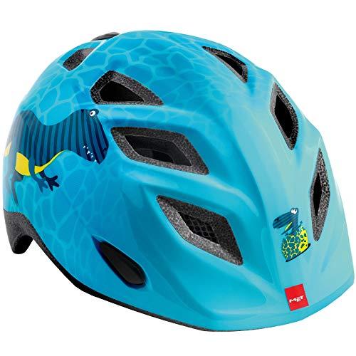 Met Elfen-Helm Blau Dinosaurier S (46-53) Fahrradhelm Unisex Kinder Erwachsene