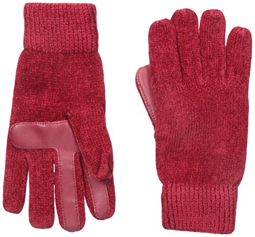 Isotoner Women's Smartouch Chenille Knit Gloves, Really Red, One Size