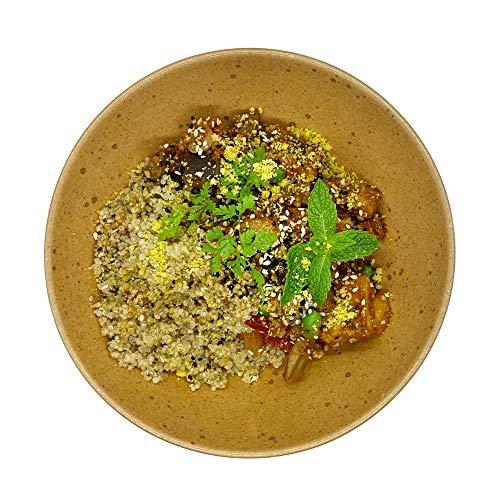 Season Family Fertiggericht Sesam Chicken auf Quinoa mit Pilzen und Ratatouille als Fitness Essen I Fertiggerichte für Mikrowelle oder Pfanne unter Schutzgasatmosphäre verpackt I Inhalt 450 g