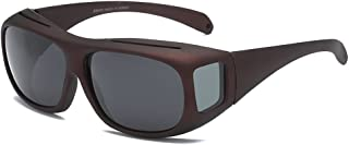 Goggles Fit Over Prescription Glasses Wrap Arounds Sunglasses with Side Shield for Driving Protection Outdoor