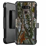 DALUX Hybrid Kickstand Holster Phone Case Compatible with LG Harmony 4 / Premier Pro Plus/Xpression Plus 3 - Camo Branches