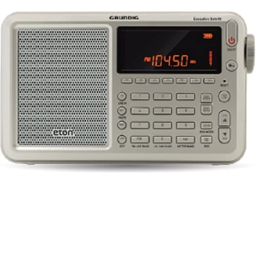 僕のただディスクEton Executive Satellite Audio Component Grey Shortwave Radio Silver (NGWSATEXEC) [並行輸入品]