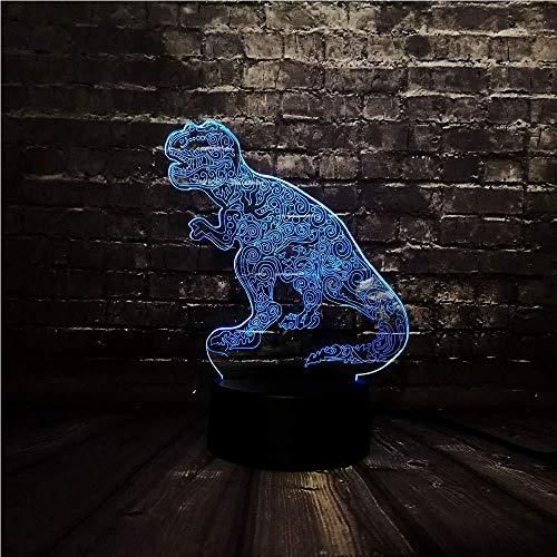 Schlafzimmerlampe Nachtlicht Neuartige Tier-Tätowierung Drache Acryl Led 7Color Usb Charge Power Dekor Zimmer Tisch Stimmung Nachtlampe Geburtstagsgeschenk Mit Fernbedienung