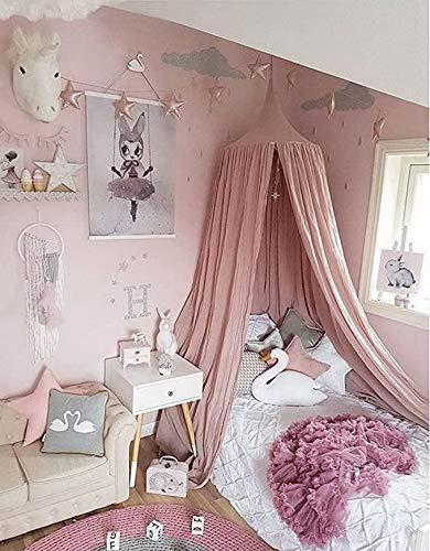 Flying Hedwig Barn tält,hängande tak för läshörnet, baby spjälsäng tak för barnkammare, sovrum dekoration, säker och giftfri (Rosa)