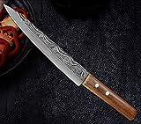 cocina cuchillos Herramientas de 8' pulgadas salmón 440c rebanar cuchillo japonés de alta carbón...