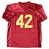 AIFFEE Men's #42 Ricky Football Jersey Red Color Stitched Number and Letters Size S - 3XL (L)