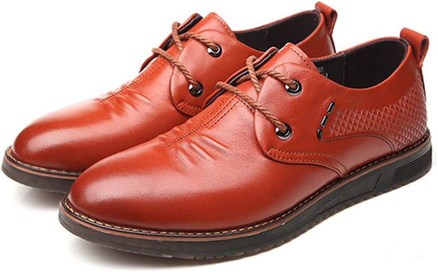 Spring Casual shoes Men's First Layer Leather shoes Business Work shoes Fashion Single shoes Driving shoes Loafers