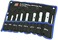 8 piece zinc plates box spanner Set metric Comes in 9 pieces with box spanner. Sizes include: 6 x 7, 8 x 9, 10 x 11, 12 x 13, 14 x 15, 16 x 17, 18 x 19, 20 x 22mm. Model number: 17900802