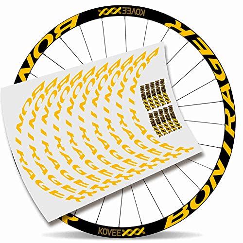 Kit Pegatinas Bicicleta Stickers LLANTA Mavic Crossmax Pro Carbon 29' BTT MTB Bike (Amarillo)